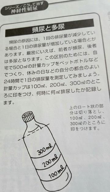 排尿日誌の作成